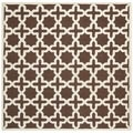 Safavieh Handmade Moroccan Cambridge Dark Brown Wool Rug (8' Square)
