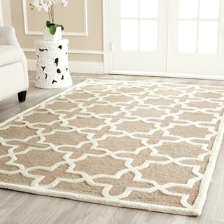 Safavieh Handmade Moroccan Cambridge Beige Wool Rug (9' x 12')