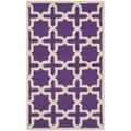 Safavieh Handmade Moroccan Cambridge Purple Wool Rug (2' x 3')