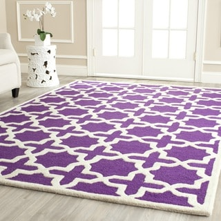 Safavieh Handmade Moroccan Cambridge Purple Wool Rug (5' x 8')