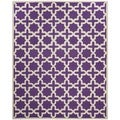 Safavieh Handmade Moroccan Cambridge Purple Wool Rug (6' x 9')