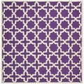 Safavieh Handmade Moroccan Cambridge Purple Wool Rug (6' Square)