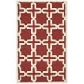 Safavieh Handmade Cambridge Moroccan Rust Wool Rug (2&#39; x 3&#39;)