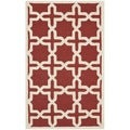 Safavieh Handmade Moroccan Cambridge Rust Wool Rug (3' x 5')