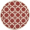 Safavieh Handmade Moroccan Cambridge Rust Wool Rug (6' Round)