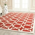 Safavieh Handmade Moroccan Cambridge Rust Wool Rug (5' x 8')