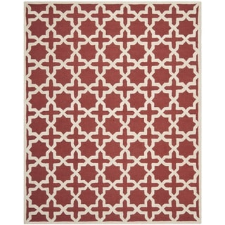 Safavieh Handmade Moroccan Cambridge Rust Wool Rug (8' x 10')
