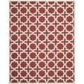 Safavieh Handmade Moroccan Cambridge Rust Wool Rug (9' x 12')