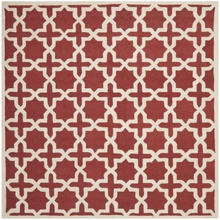 Safavieh Handmade Moroccan Cambridge Rust Wool Rug (6' Square)
