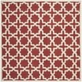Safavieh Handmade Moroccan Cambridge Rust Wool Rug (8' Square)