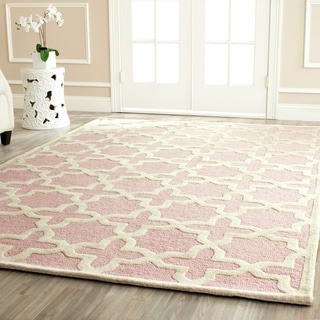 Safavieh Handmade Moroccan Cambridge Light Pink Wool Rug (4' x 6')