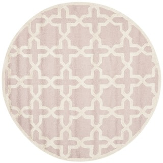Safavieh Handmade Moroccan Cambridge Light Pink Wool Rug (6' Round)