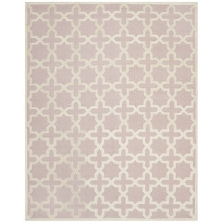 Safavieh Handmade Moroccan Cambridge Light Pink Wool Rug (6' x 9')