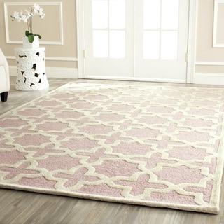 Safavieh Handmade Moroccan Cambridge Light Pink Wool Rug (6' x 9')
