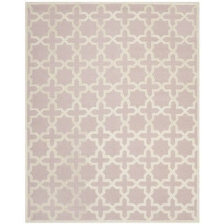 Safavieh Handmade Moroccan Cambridge Light Pink Wool Rug (8' x 10')