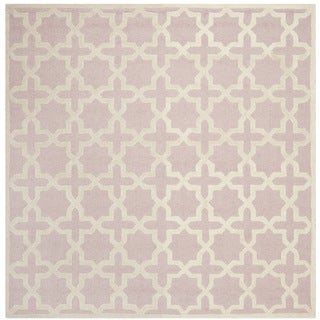 Safavieh Handmade Moroccan Cambridge Light Pink Wool Rug (6' Square)