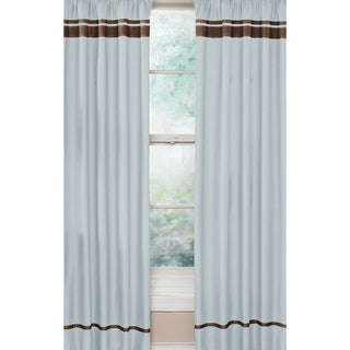 Blue and Brown Hotel 84-Inch Curtain Panel Pair