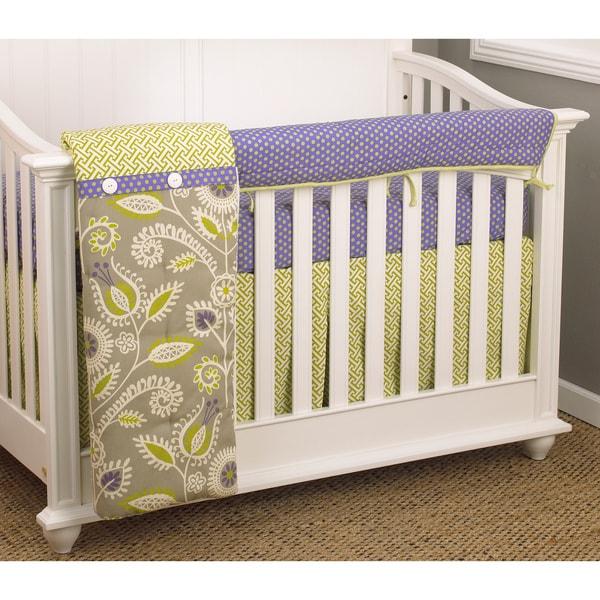 Cotton Tale Periwinkle 4-piece Crib Bedding Set