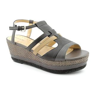 Tahari Women's 'Jane' Gray Leather Sandals