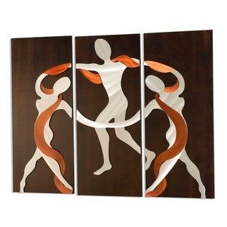 Scarf Dance 3-Panel Metal Wall Art