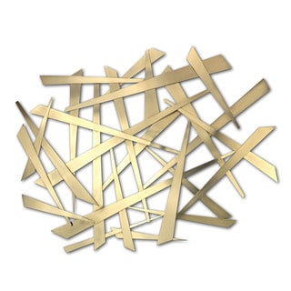 'Criss Cross' Metal Wall Art