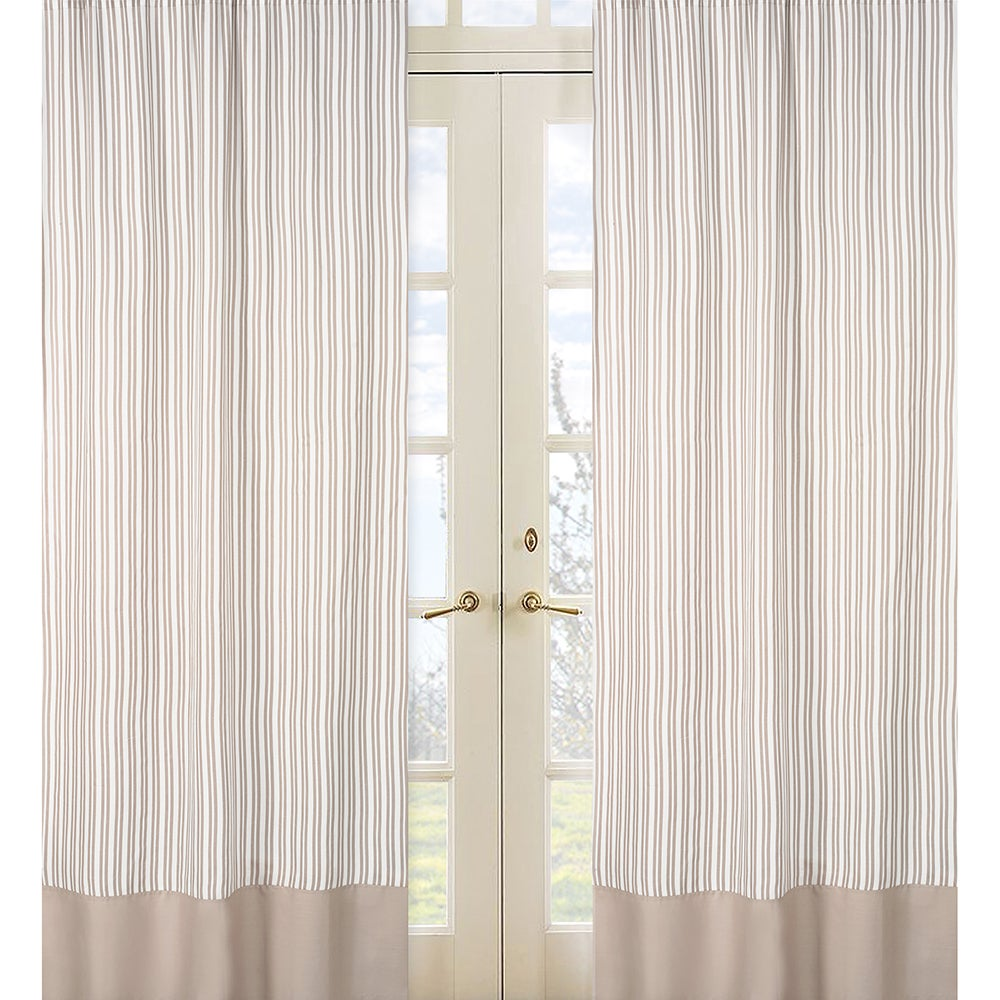 Sweet Jojo Designs Little Taupe Stripe 84-inch Curtain Panel Pair at Sears.com