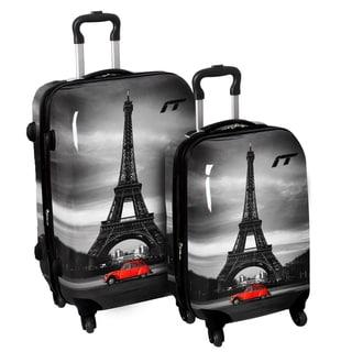 International Traveller 'Classic Paris' 2-piece Hardside Fashion Spinner Luggage Set