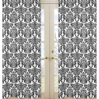 Damask Print Isabella 84-inch Curtain Panel Pair