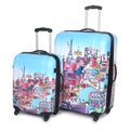 International Traveller 'Paris City' 2-piece Fashion Hardside Spinner Luggage Set
