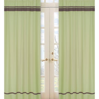 Green and Brown Hotel 84-inch Curtain Panel Pair