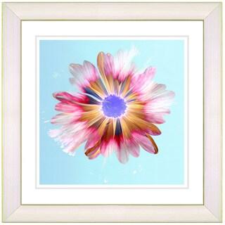 Studio Works Modern 'Snowflake Daisy - Sky' Framed Print
