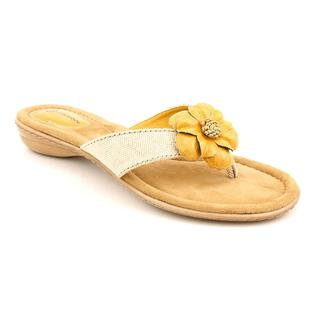 Giani Bernini Women's 'Alexia' Yellow Synthetic Sandals