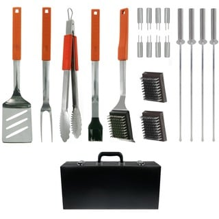 Mr. Bar.B.Q 20-piece Barbecue Tool Set with Attache Case