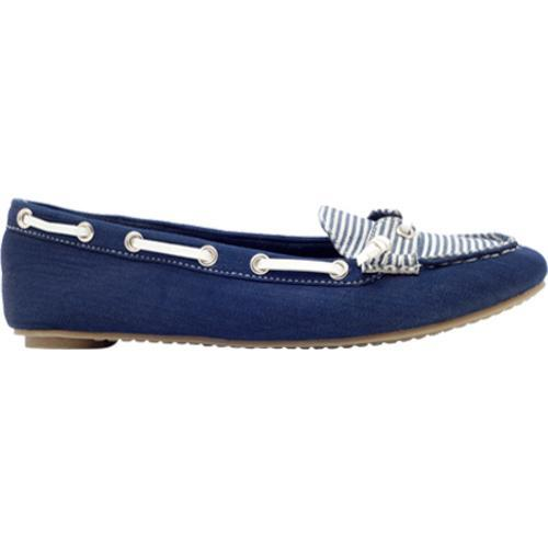 WOMENS LADIES SEAFARER NAVY PINK FLAT LOAFERS LEATHER DECK BOAT SHOES 4-8 UK