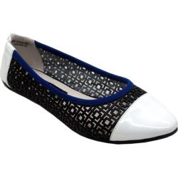 Women's Footzyfolds Kourtney Black/White