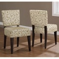 Savannah Damask Dining Chairs (Set of 2)