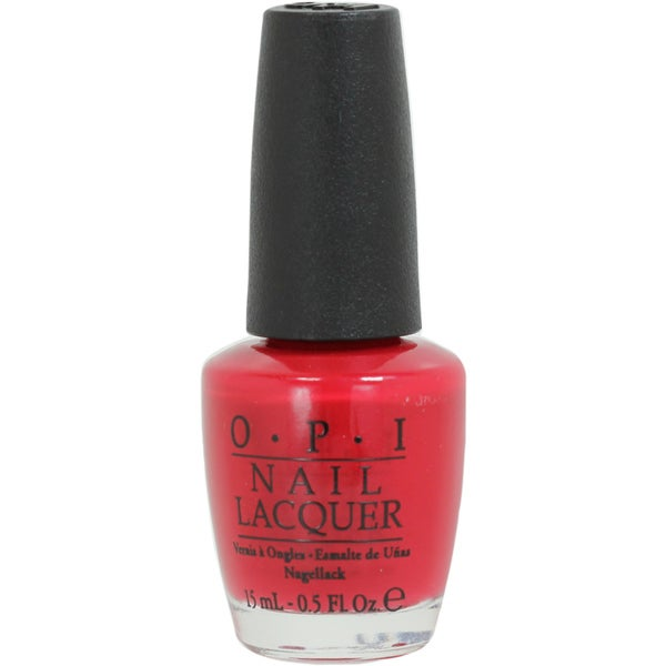 OPI Color So Hot It Berns Swiss Collection Red Nail Lacquer