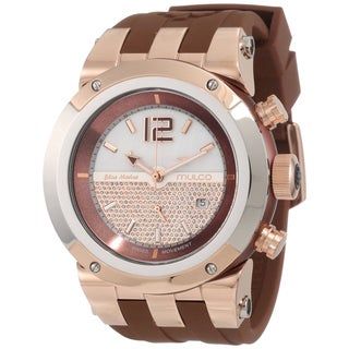 Mulco Unisex 'Glitz' Swiss Quartz Silicone Band Watch