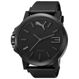 Puma Men's Ultrasize Black Plastic Black Dial Quartz Watch