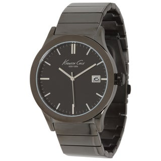 Kenneth Cole Men's 'Newness' Black Stainless Steel Black Dial Quartz Watch