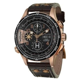 Hamilton Men's 'Khaki Aviation' Rose-goldplated Steel Chronograph Watch