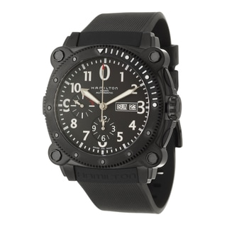 Hamilton Men's 'Khaki Navy' Black Stainless Steel Chronograph Watch