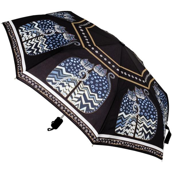 Laurel Burch 'Polka-dot Cats' Compact Umbrella