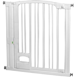 Pressure-Mounted Hands-Free Safety Gate with Magnetic Close
