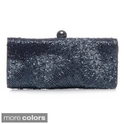J. Furmani Women's Bead Embellished Hardcase Clutch Bag