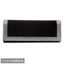 J. Furmani Women's 'Elegance' Rhinestone Panel Clutch