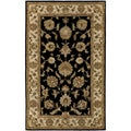 Castello Tudor/ Black Area Rug (5' x 8')