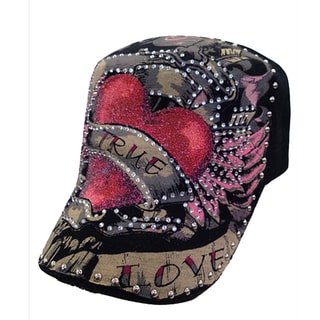 Zone Women's Printed Rhinestone Embellished Baseball Cap