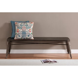Tabouret Vintage Brown/ Grey 60-inch Indoor Bench