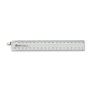 Adjustable Triangular Scale Aluminum 12-inch Engineers Ruler